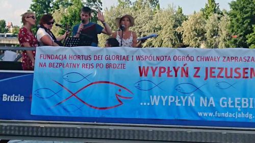 Wypłyń z Jezusem - rejs Ewangelizacyjny po Brdzie w Bydgoszczy, maj 2019 r.